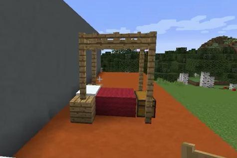 Как сделать кровать в МайнКрафт