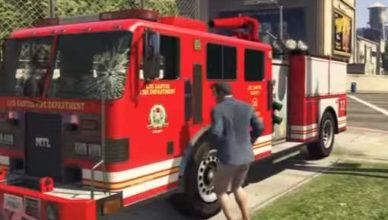 Как угнать пожарную машину в GTA 5
