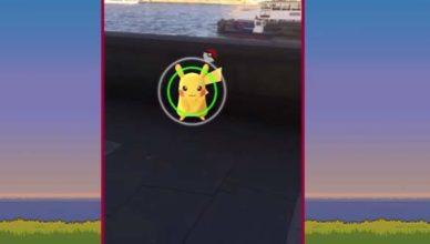 Pokémon GO ловля пикачу